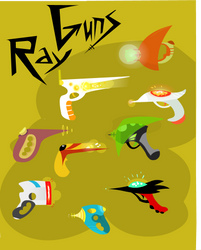 SOME FREAKING RAY GUNS by fishbot