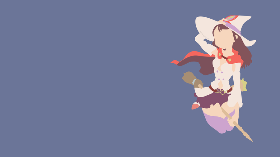 [Minimalistic] Akko - Little Witch Academia by Hespen