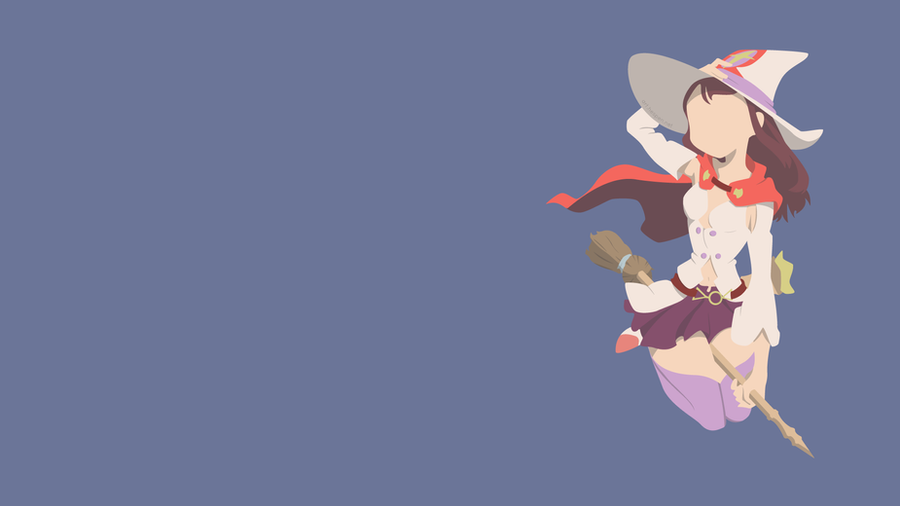 [Min-Vect] Akko - Little Witch Academia by Hespen