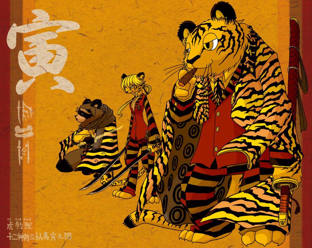 Jyunisinsho-Sanjyurokkin-Tora no zu by hi6sho