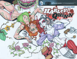 Harley Quinn Zero Sketch Cover by LordSantiago
