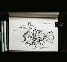 Inktober2020 - Day 1 (Fish) by Trydying13