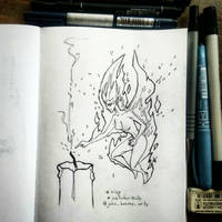 Inktober2020 - Day 2 (Wisp) by Trydying13