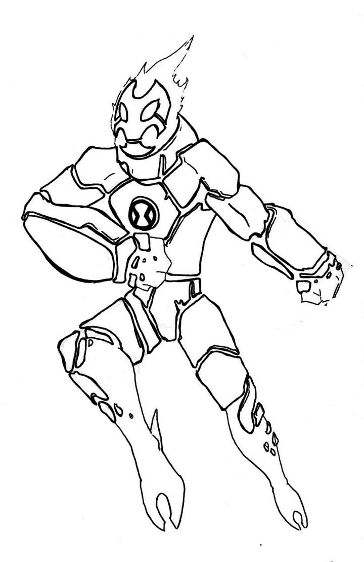 Heat blast coloring pages ~ Diamond Head Ben 10 Coloring Pages Pictures to Pin on ...