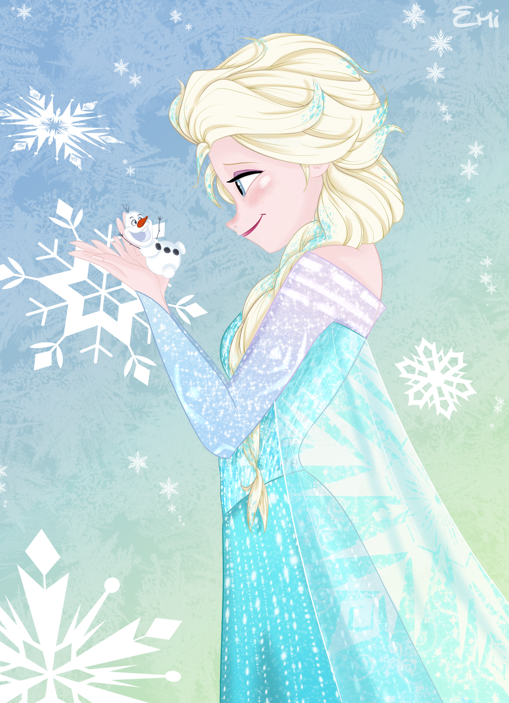 elsa_and_tiny_olaf_by_tokio92-d7xw5qg.pn