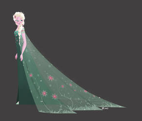 Waiting for Frozen Fever - Elsa by Tokio92
