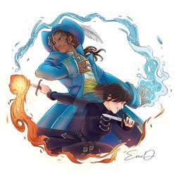 Fire and Water - Lila and Alucard