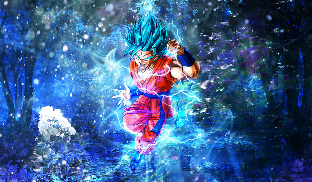Goku Super Saiyan Blue Wallpaper By Xicor4988 On Deviantart