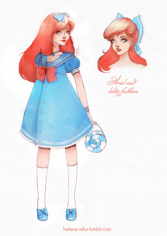 Ariel dress coloring page
