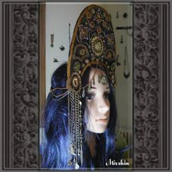 Steampunk oriental headdress by Mirzhin