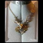 Cernunnos steampunk necklace