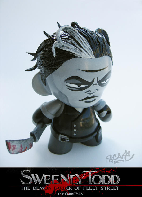 Sweeney Todd mini Munny custom by scavenjer