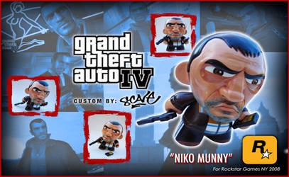 NIKO BELLIC GTA 4 custom Munny by scavenjer