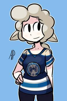 Hockey Shirt Sheep Girl