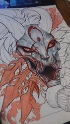 Kalista Blood Moon WIP by HauRin