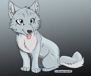 wolf pup template by kasarawolf Filled