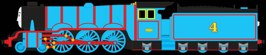 Gordon the Big blue engine by ChrisLShack1998