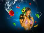 Aqua-fruit photomanipulation