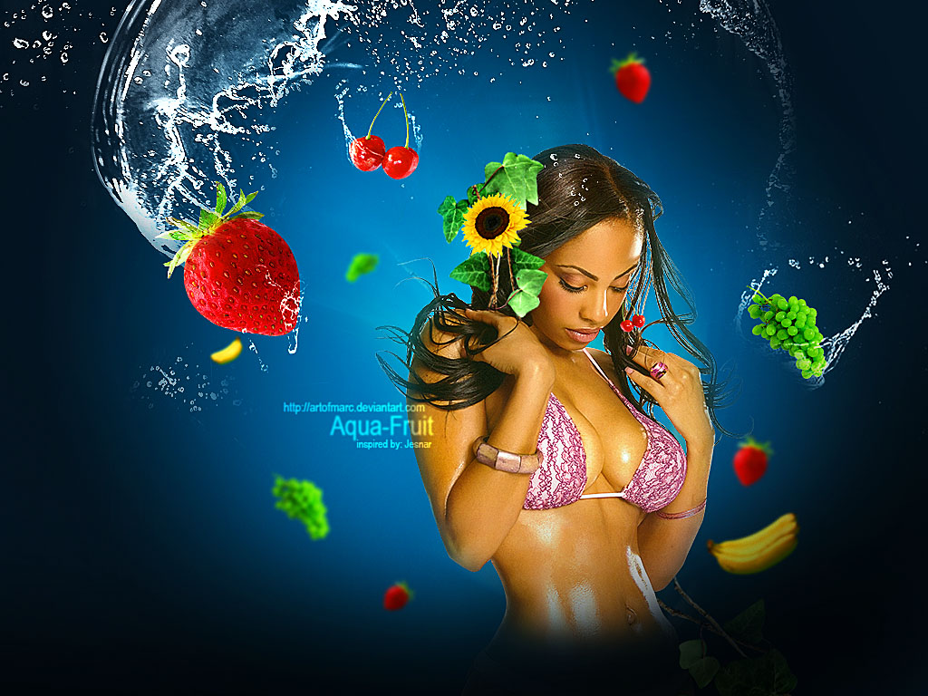Aqua-fruit photomanipulation by artofmarc