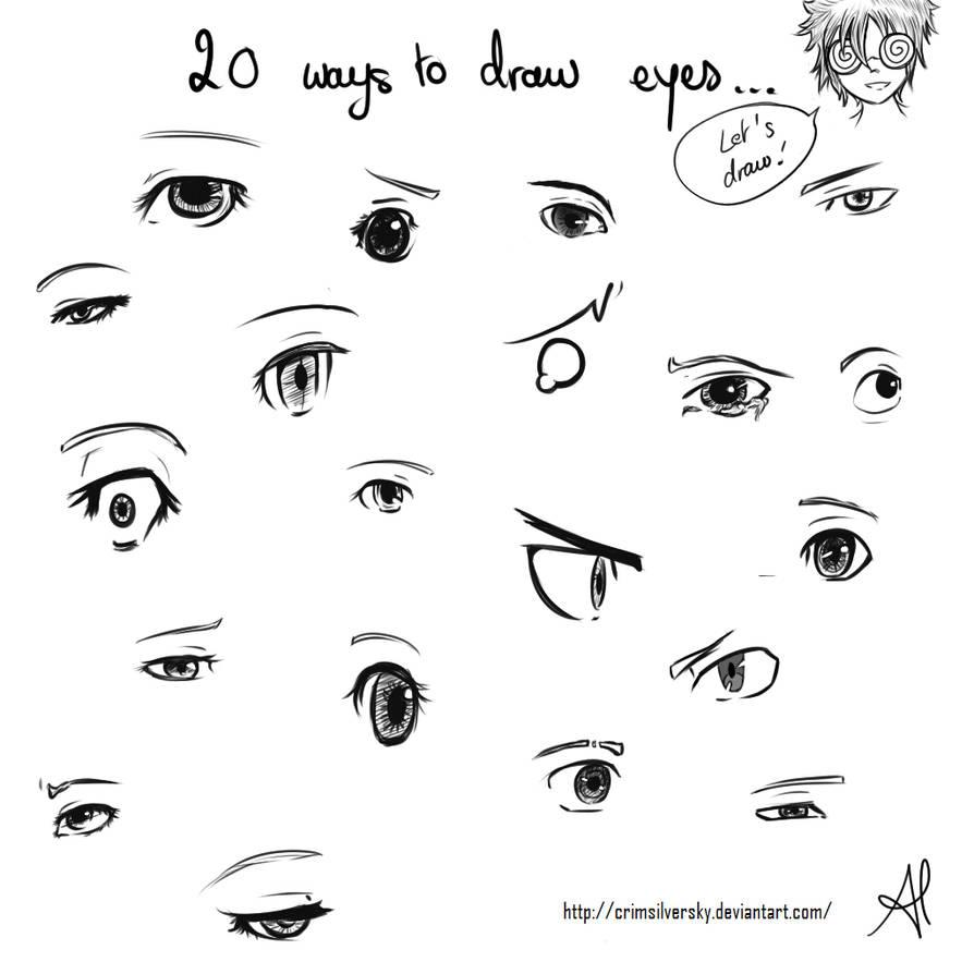 20 ways to draw eyes by crimsilversky