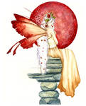 Faerie with Red Orb