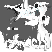 monochrome monster by hatchl
