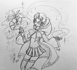 Magic girl Lu sketch