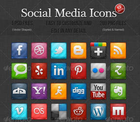 52 Social Media Icons by someic