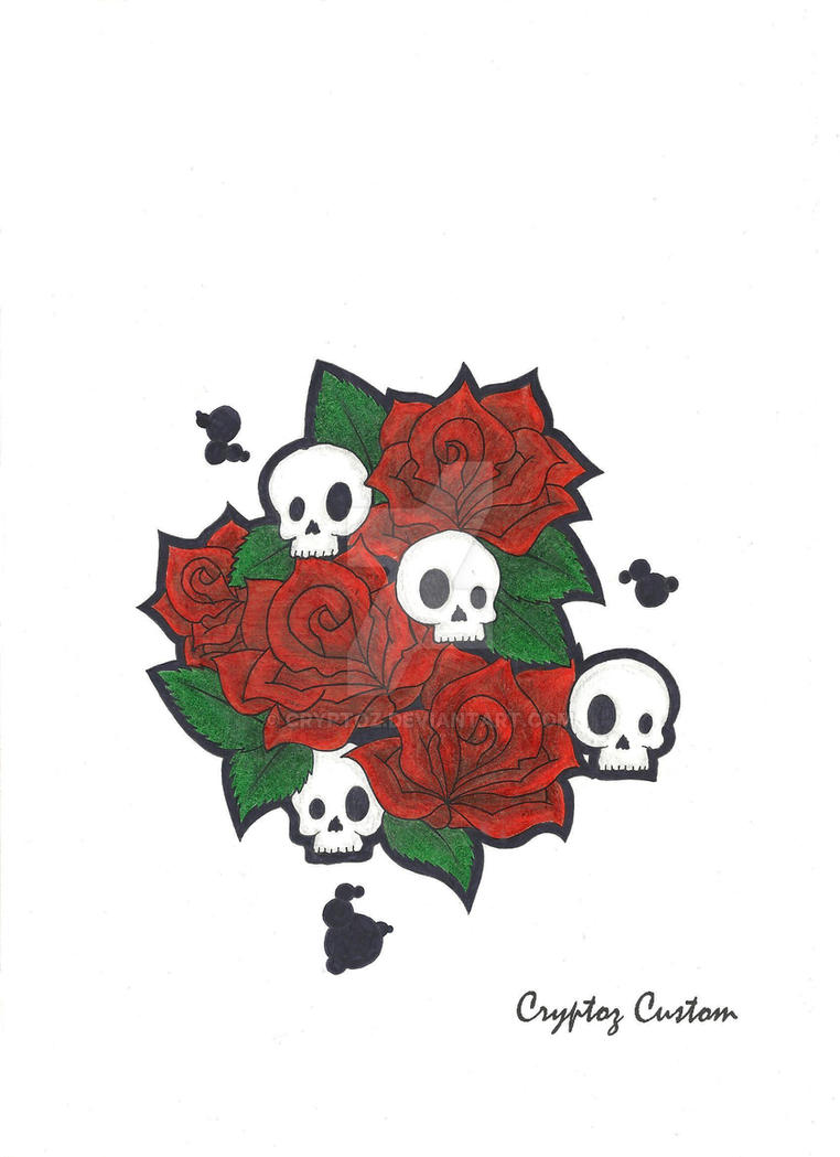 Skulls and Roses by CrYpToZ