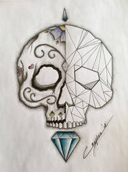 Geometric / DoD skull finished