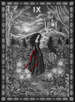 Tarot: 9 of Pentacles by Doberlady