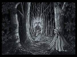 Devil in the Woods by Doberlady