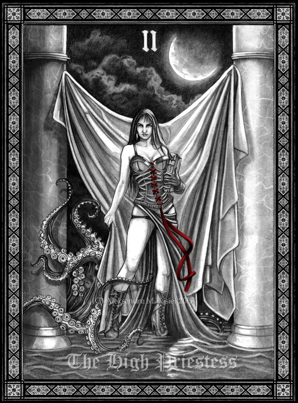 High Priestess Full Colorful Deck Major Stock Illustration: Tarot: The High Priestess By Doberlady On DeviantArt