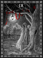 Tarot: The Hermit by Doberlady