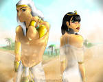 A Pharaoh and His Queen //TutankhamunxAnkhesenamun by TeraStormTAS