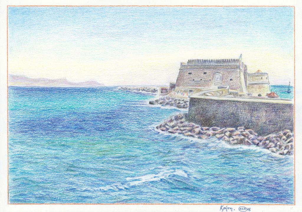 Crete - Heraklion fortress Koules by rana-kenobi