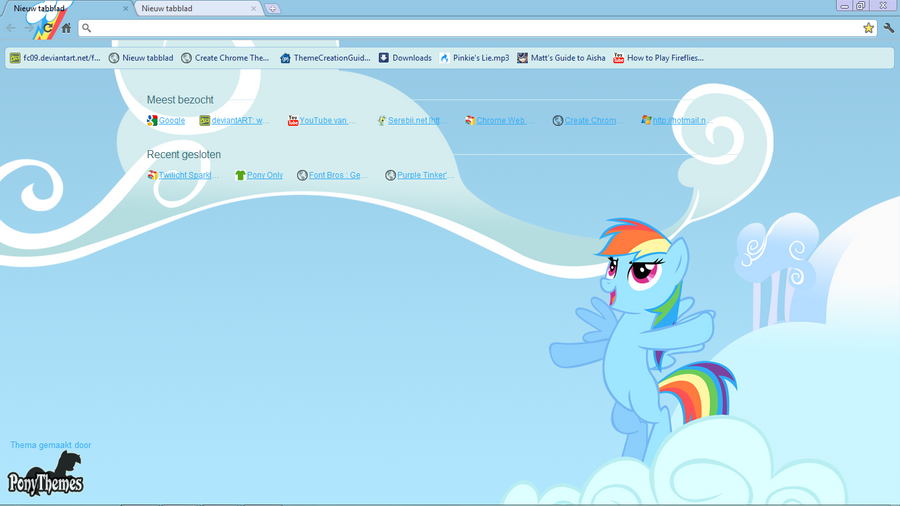 Rainbow Dash GC Theme by Julien12826