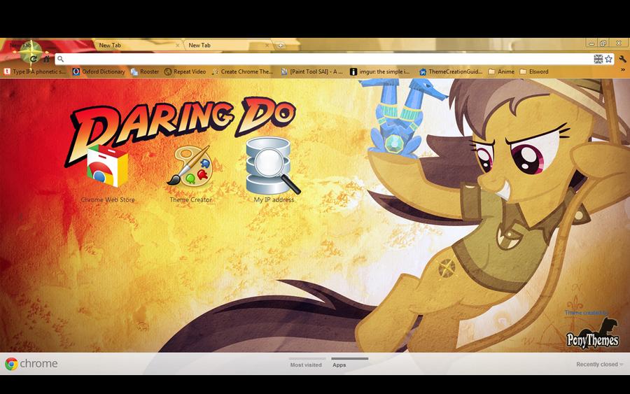 1980x1080 Daring Do Google Chrome Theme by Julien12826