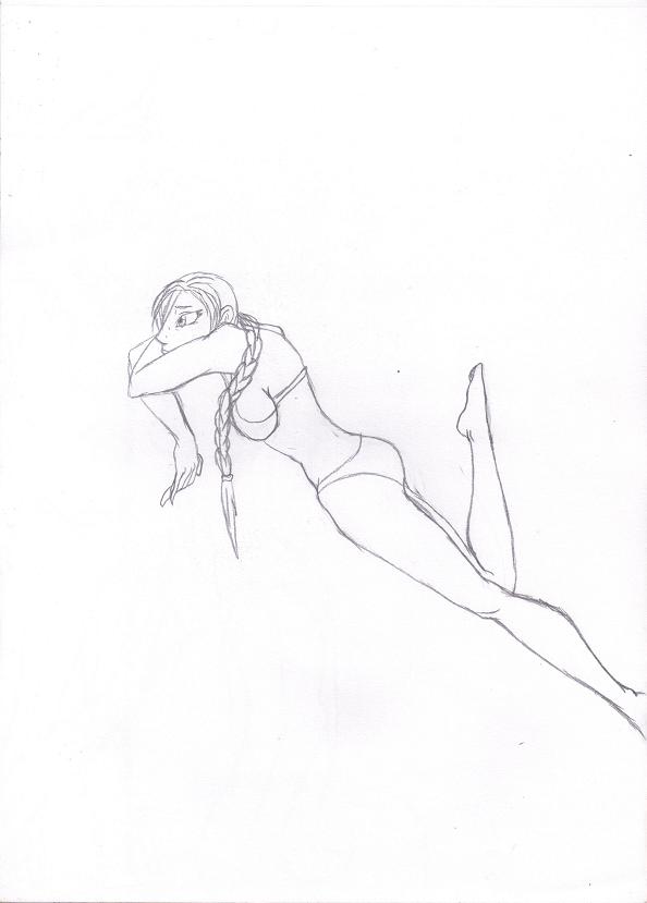 Practice Drawing - Sad Lara by Alpine-Dragon-Queen