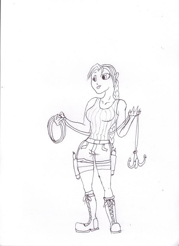 Cartoon style - Lara by Alpine-Dragon-Queen