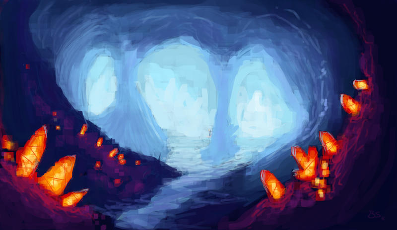 Crystal cave speed painting by bonino on deviantart for Paintings of crystals