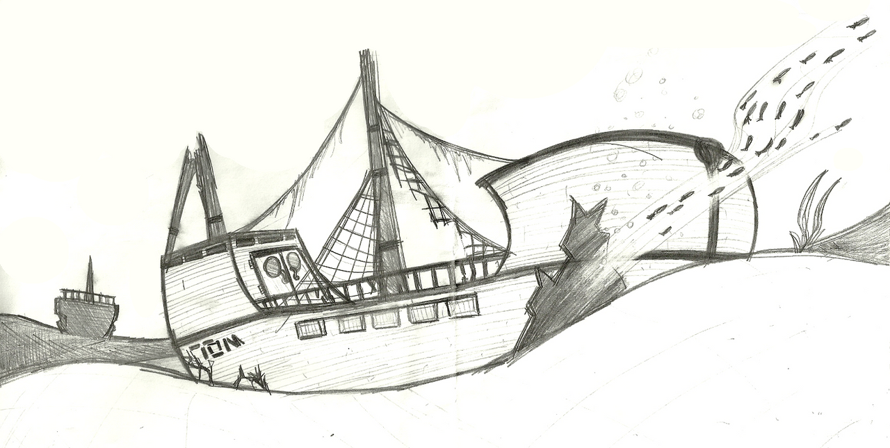 sunken ship by light rock on deviantart