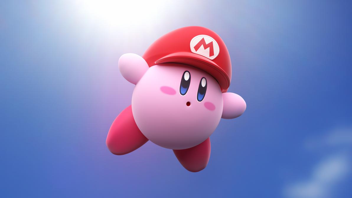 Mario Hat Kirby [1] by Light-Rock
