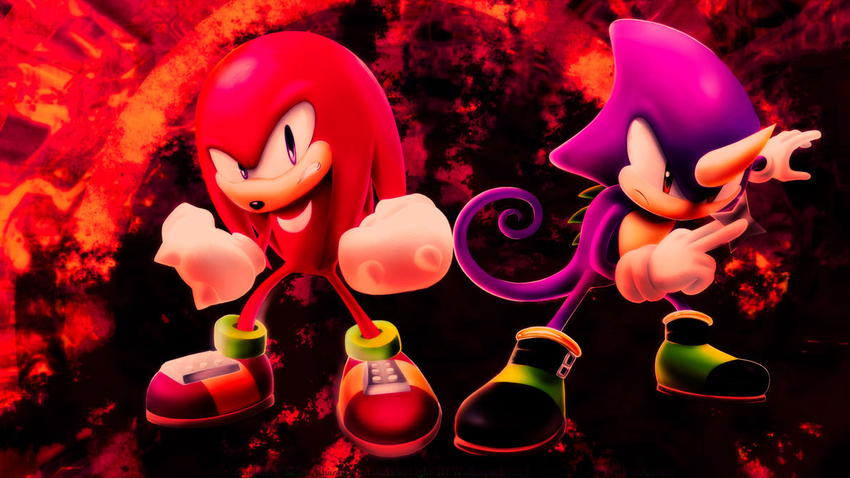 Knuckles and Espio [2015.2] by Light-Rock