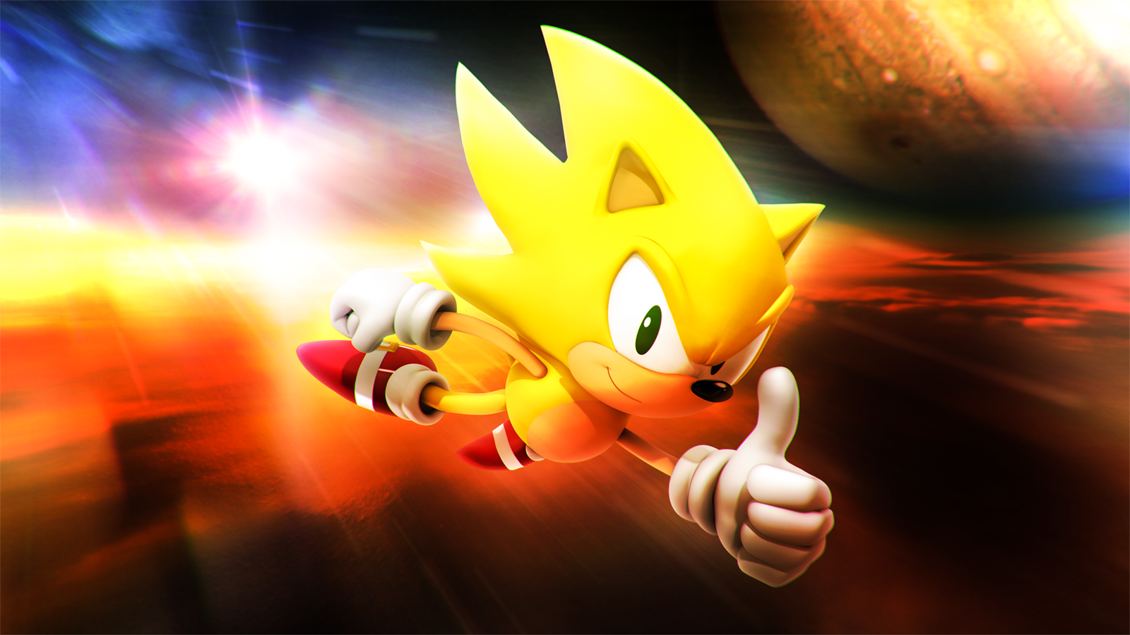 Super Sonic The Hedgehog Classic By Light Rock