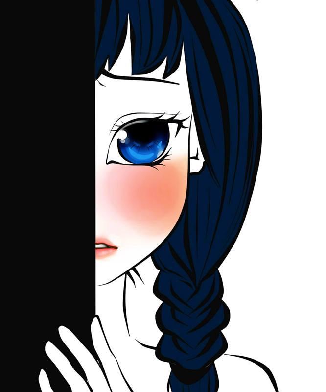 shy anime girl