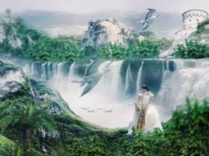 waterfall... by mirandaarts
