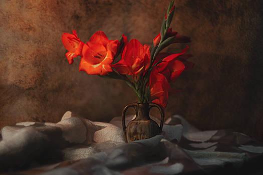red flower...