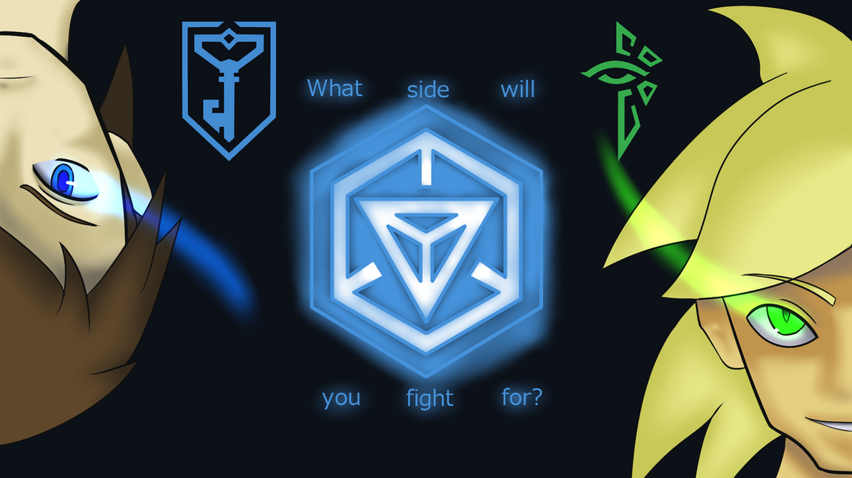 Ingress: Fight for the Enlightened Wallpaper by sonicspeed123