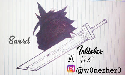 inktober number 6 Sword by Bonezkd